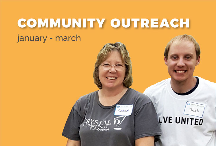 Community Outreach January-March