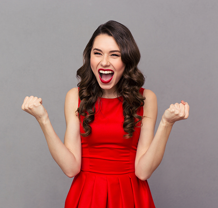 Excited Woman
