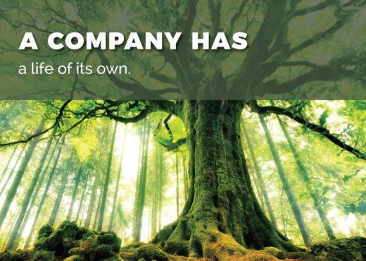 A company has a life of its own.