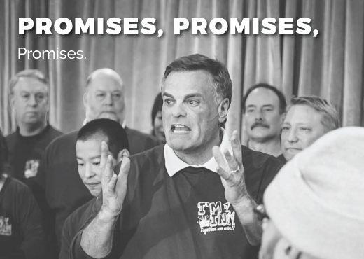 Promises, promises, promises.