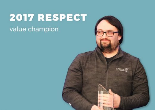 2017 Respect Value Champion Eric Wiberg