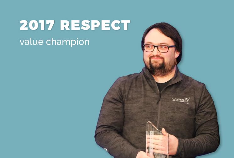 2017 Respect Value Champion Eric Wiberg
