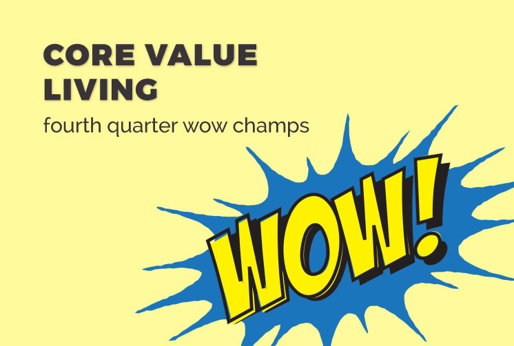 Fourth Quarter WOW Champs
