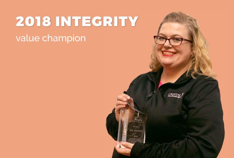 Jen Jezierski, Integrity