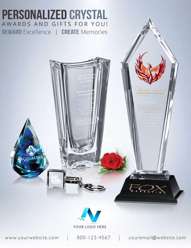 Personalized Crystal Product Flyer