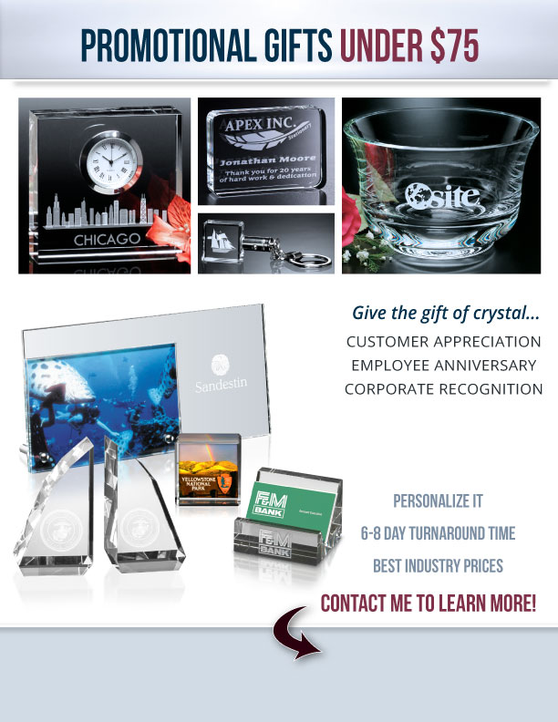 Promotional Gifts Under $75 Flyer